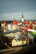 View of Estonia's capital Old Town