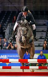 Bos Samantha (NED) - El Clarimo<br /> KWPN Stallion Selection - 's Hertogenbosch 2014<br /> © Dirk Caremans