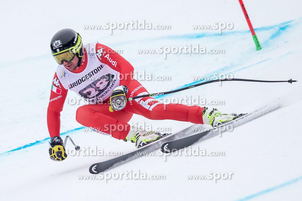 27.02.2015, Kandahar, Garmisch Partenkirchen, GER, FIS Weltcup Ski Alpin, Abfahrt, Herren, 2. Training, im Bild Silvano Varettoni (ITA) // Silvano Varettoni of Italy in action during the 2nd trainings run for the men's Downhill of the FIS Ski Alpine World Cup at the Kandahar course, Garmisch Partenkirchen, Germany on 2015/27/02. EXPA Pictures © 2015, PhotoCredit: EXPA/ Johann Groder