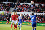 Brentford midfielder Ryan Woods during the Sky Bet Championship match between Nottingham Forest and Brentford at the City Ground, Nottingham, England on 2 April 2016. Photo by Chris Wynne.