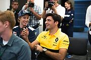 October 19-22, 2017: United States Grand Prix. Carlos Sainz Jr. (SPA) Renault Sport Formula One Team, R.S. 17, Brendon Hartley (NZ), Scuderia Toro Rosso, STR12