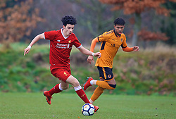 WOLVERHAMPTON, ENGLAND - Tuesday, December 19, 2017: Liverpool's Curtis Jones during an Under-18 FA Premier League match between Wolverhampton Wanderers and Liverpool FC at the Sir Jack Hayward Training Ground. (Pic by David Rawcliffe/Propaganda)