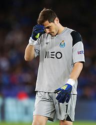 Iker Casillas of FC Porto looks dejected - Mandatory by-line: Matt McNulty/JMP - 27/09/2016 - FOOTBALL - King Power Stadium - Leicester, England - Leicester City v FC Porto - UEFA Champions League