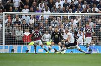 Football - 2019 / 2020 Premier League - Tottenham Hotspur vs. Aston Villa<br /> <br /> Tottenham Hotspur's Harry Kane scores his side's second goal, at The Tottenham Hotspur Stadium.<br /> <br /> COLORSPORT/ASHLEY WESTERN