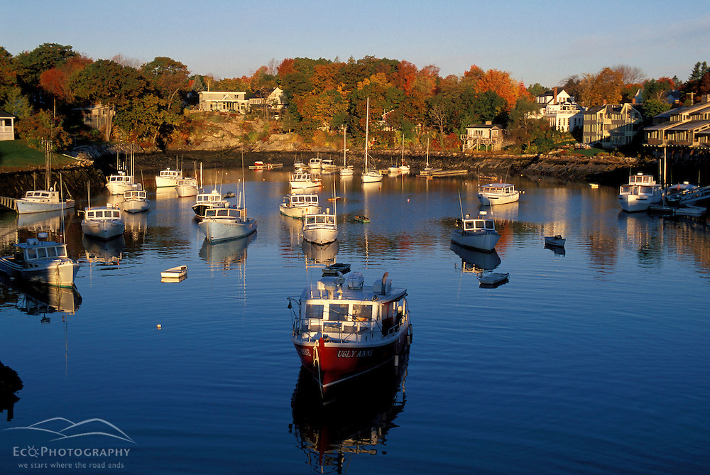 Perkins Cove, Ogunquit, ME. Fishing Boats. Sunrise.