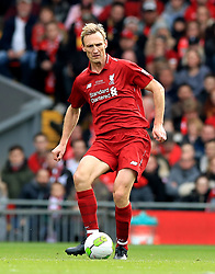 Liverpool's Sami Hyypia during the Legends match at Anfield Stadium, Liverpool.