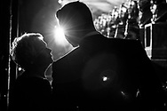 Judi Dench backstage at the Olivier Awards 2015
