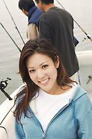 Young Woman on Sport Fishing Trip