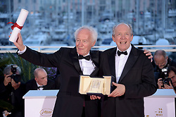 May 25, 2019 - Cannes, France - 72nd Cannes Film Festival 2019, Photocall Awards - Golden Palmares.Pictured: Jean Pierre Dardenne, Luc Dardenne (Credit Image: © Alberto Terenghi/IPA via ZUMA Press)