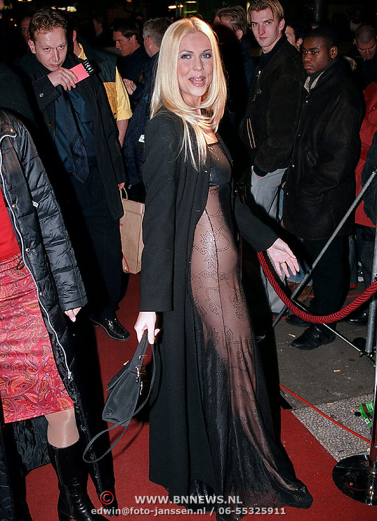 Playboy Millenium Party 1999, Nance Rutten in een doorzichtige jurk