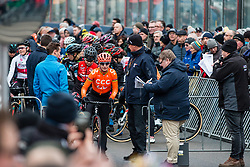 VOS Marianne (NED) before the Women Elite race, 2019 UCI Cyclo-cross World Cup Heusden-Zolder, Belgium, 26 December 2019. <br /> <br /> Photo by Pim Nijland / PelotonPhotos.com <br /> <br /> All photos usage must carry mandatory copyright credit (Peloton Photos | Pim Nijland)