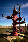 Prudhoe Bay, Alaska, USA, 20010829: One of the Chistmas tree valves in the ANWR area outside Prudhoe Bay, on the Alaska Pipeline. Photo: Orjan F. Ellingvag/ Corbis