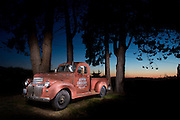 Agnew Store's great old pickup. Light-painted image.