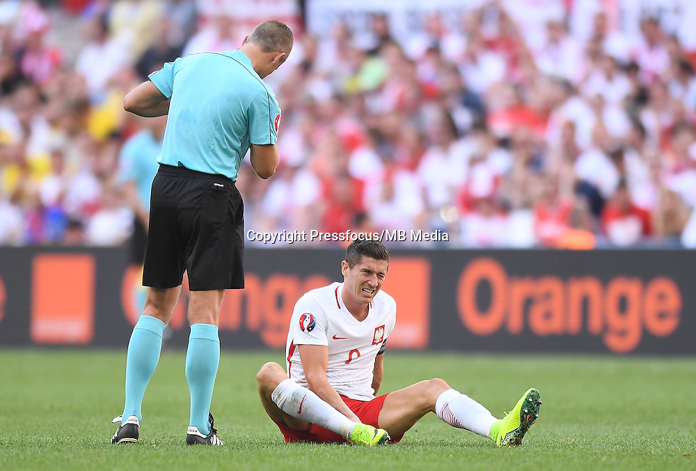 2016.06.21 Marsylia Marseille<br /> Pilka nozna Euro 2016 mecz grupy C<br /> Ukraina - Polska <br /> N/z Robert Lewandowski<br /> Foto Lukasz Laskowski / PressFocus<br /> <br /> 2016.06.21 Marsylia Marseille<br /> Football UEFA Euro 2016 group C game between Ukraine and Poland<br /> Robert Lewandowski<br /> Credit: Lukasz Laskowski / PressFocus