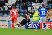 Conrad Logan Penalty Save during the EFL Sky Bet League 1 match between Rochdale and Milton Keynes Dons at Spotland, Rochdale, England on 20 August 2016. Photo by Daniel Youngs.