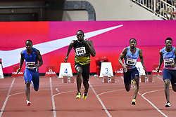 July 21, 2017 - France - Usain Bolt (Jamaique) - Chijindu Ujah (Grande Bretagne) - Akani Simbine (Republique Sud Africaine) - Isiah Young  (Credit Image: © Panoramic via ZUMA Press)
