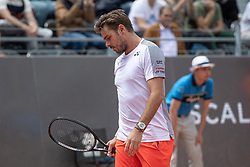 May 14, 2019 - Rome, Italy - Stan Wawrinka (SUI) looks dejected against David Goffin (BEL) during Internazionali BNL D'Italia  Italian Open at the Foro Italico, Rome, Italy on 14 May 2019. (Credit Image: © Giuseppe Maffia/NurPhoto via ZUMA Press)