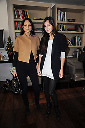 Left to right, YASMIN MILLS and her daughter LAURIE MILLS at a breakfast hosted by Bobbi Brown - the cosmetics company held at Morton's, 28 Berkeley Square, London on 8th December 2009.