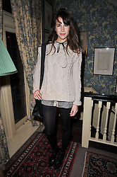 CAROLINE SIEBER at a screening of Charlotte Olympia's new film 'To Die For' held at Mark's Club, Charles Street, London W1 on 22nd February 2011.