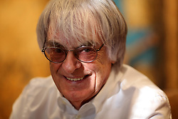 UK ENGLAND LONDON 13JAN14 - Formula One president and CEO Bernie Ecclestone reacts during an interview at his headquarters in Knightsbridge, central London.<br /> <br /> jre/Photo by Jiri Rezac<br /> <br /> © Jiri Rezac 2014