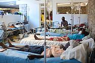 The cholera ward at the Hospital Albert Schweitzer on Thursday, October 28, 2010 in Deschapelles, Haiti.