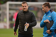 Forest Green Rovers manager Mark Cooper during the Vanarama National League match between Forest Green Rovers and Dagenham and Redbridge at the New Lawn, Forest Green, United Kingdom on 29 October 2016. Photo by Alan Franklin.