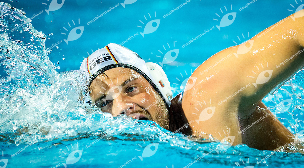 Germany (White) Vs Hungary (Blue)<br /> LEN European Water Polo Championships 2014 - July 14-27<br /> Alfred Hajos -Tamas Szechy Swimming Complex<br /> Margitsziget - Margaret Island<br /> Day06 - July 19<br /> Photo Pasquale Mesiano/Inside/Deepbluemedia