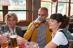 05.10.2014, Theresienwiese, München, GER, 1. FBL, FC Bayern Muenchen am Oktoberfest, im Bild Josep Guardiola, head coach of Bayern Muenchen attends with his wife Cristina Guardiola the Oktoberfest beer festival at Kaefer Wiesnschaenke tent at Theresienwiese on 2014/10/05. EXPA Pictures © 2014, PhotoCredit: EXPA/ Eibner-Pressefoto/ Pool<br /> <br /> *****ATTENTION - OUT of GER*****