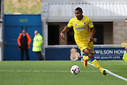 AFC Wimbledon defender Darius Charles (32) in action during the EFL Sky Bet League 1 match between Northampton Town and AFC Wimbledon at Sixfields Stadium, Northampton, England on 20 August 2016. Photo by Stuart Butcher.