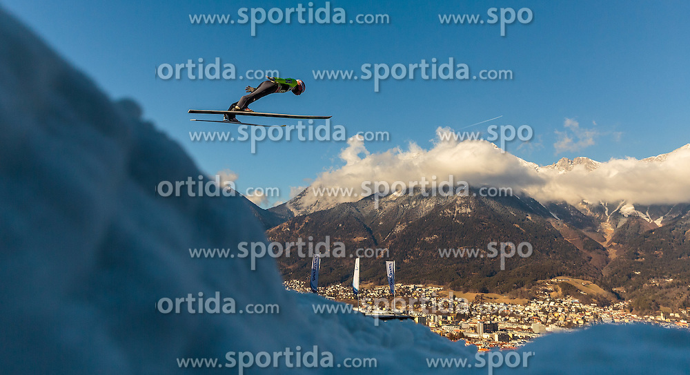 03.01.2017, Bergiselschanze, Innsbruck, AUT, FIS Weltcup Ski Sprung, Vierschanzentournee, Innsbruck, Training, im Bild Stefan Kraft (AUT) // Stefan Kraft of Austria during his Practice Jump for the Four Hills Tournament of FIS Ski Jumping World Cup at the Bergiselschanze in Innsbruck, Austria on 2017/01/03. EXPA Pictures © 2017, PhotoCredit: EXPA/ JFK