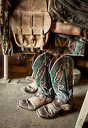 Boots in Tack Room, Texas