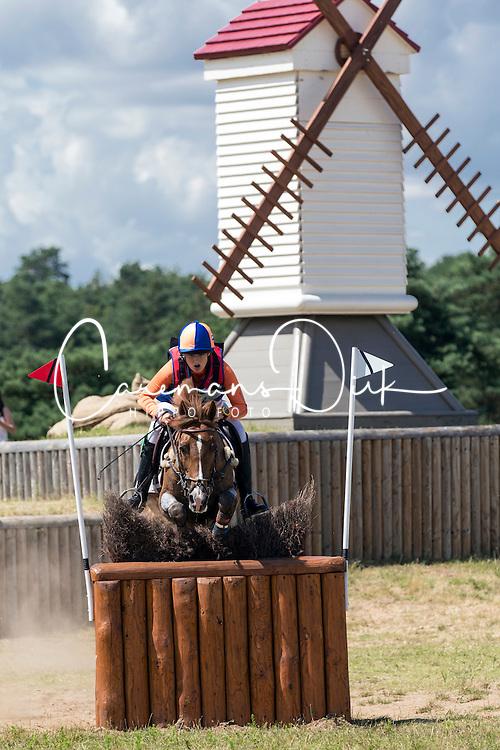 De Hoon Milou (NED) - Veenstra's VIP<br /> European Championship Poney - Fontainebleau 2012<br /> © Dirk Caremans