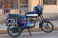 Motorcycle in Artemisa, Cuba.