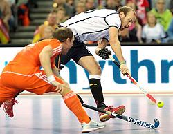 LEIZPIG - WC HOCKEY INDOOR 2015<br /> GER v NED (Semi Final 1)<br /> STRALKOWSKI Thilo<br /> FFU PRESS AGENCY COPYRIGHT FRANK UIJLENBROEK