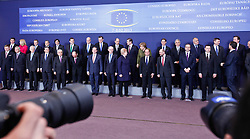 (David Cameron far right) EU leaders leave after the family photo session of an EU summit in Brussels, capital of Belgium, Feb. 7, 2013. Top leaders of the European Union (EU) have been scheduled for tough negotiations over the bloc s seven-year budget scheme as a two-day summit is to kick off on Thursday afternoon in Brussels, February 7, 2013. Photo by Imago / i-Images...UK ONLY