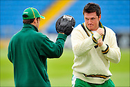 South Africa captain Graeme Smith boxing during nets at Headingley on the 16th of July 2008..England v South Africa.Photo by Philip Brown.www.philipbrownphotos.com
