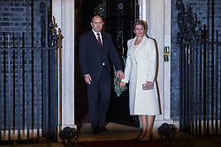 London, UK. 3 December, 2019. Rumen Radev, President of Bulgaria, arrives with his wife Desislava Radeva for a reception for NATO leaders at 10 Downing Street on the eve of the military alliance's 70th anniversary summit at a luxury hotel near Watford.