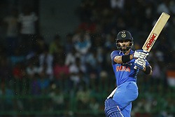 September 3, 2017 - Colombo, Sri Lanka - Indian cricket captain Virat Kohli plays a shot during the 5th and final One Day International cricket match between Sri Lanka and India at the R Premadasa international cricket stadium at Colombo, Sri Lanka on Sunday 3 September 2017. (Credit Image: © Tharaka Basnayaka/NurPhoto via ZUMA Press)