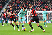 Sead Kolasinac (31) of Arsenal on the attack during the Premier League match between Bournemouth and Arsenal at the Vitality Stadium, Bournemouth, England on 25 November 2018.