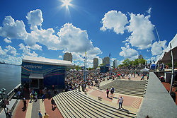 Riverstage, Great Plaza of Penn's Landing, Philadelphia, PA - September 6-9, 2012; View of the Great Plaza and the River Stage at Penn's Landing as seen during the 2012 WHYY Connections Festival.