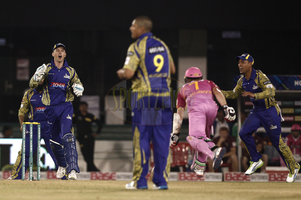 Dane Vilas of Cape Cobras during match 3 of the Oppo Champions League Twenty20 between the Cape Cobras and the Northern Knights held at the Chhattisgarh International Cricket Stadium, Raipur, India on the 19th September 2014<br /> <br /> Photo by:  Deepak Malik / Sportzpics/ CLT20<br /> <br /> <br /> Image use is subject to the terms and conditions as laid out by the BCCI/ CLT20.  The terms and conditions can be downloaded here:<br /> <br /> http://sportzpics.photoshelter.com/gallery/CLT20-Image-Terms-and-Conditions-2014/G0000IfNJn535VPU/C0000QhhKadWcjYs