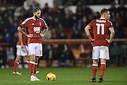 Nottingham Forest midfielder Henri Lansbury (10) lines up a free kick during the EFL Sky Bet Championship match between Nottingham Forest and Newcastle United at the City Ground, Nottingham, England on 2 December 2016. Photo by Jon Hobley.