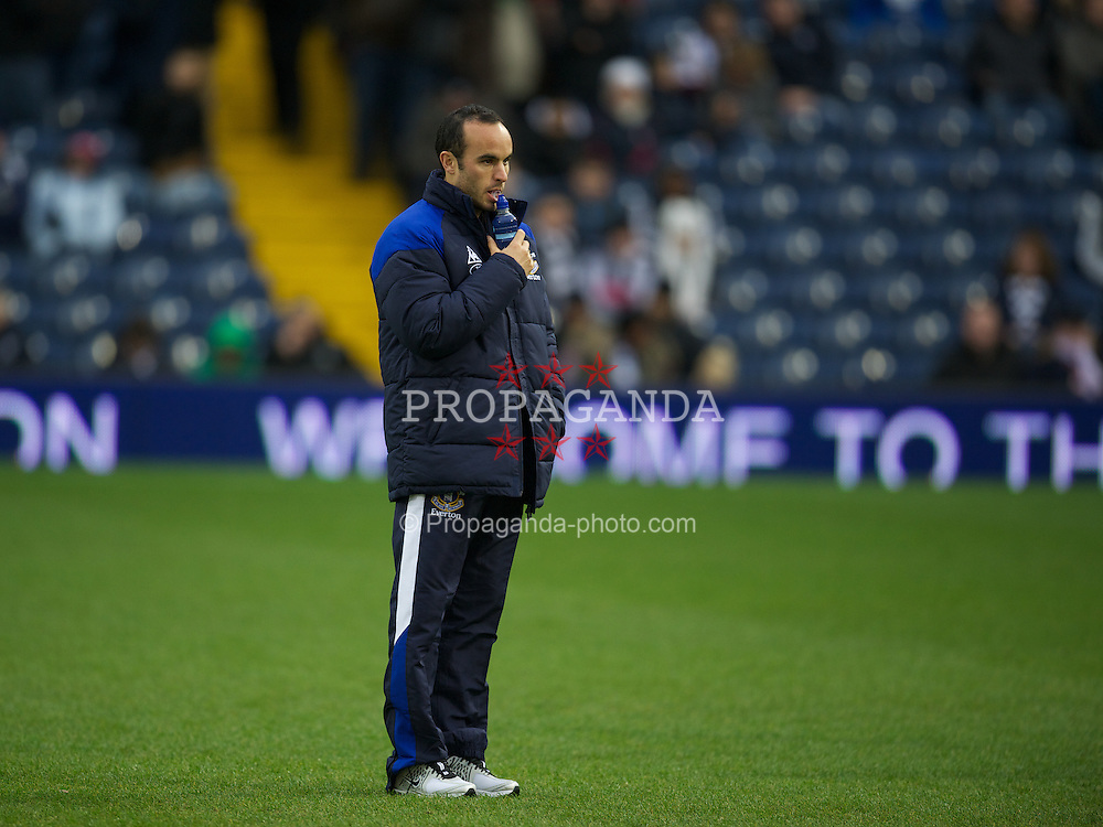 WEST BROMWICH, ENGLAND - Sunday, January 1, 2011: Everton's new on-loan signing Landon Donovan before the Premiership match against West Bromwich Albion at the Hawthorns. (Pic by David Rawcliffe/Propaganda)