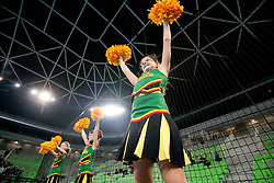 Cheerleaders  during handball match between RK Krim Mercator (SLO) and RK Podravka Vegeta (CRO) in Women's EHF Champions League, on November 13, 2010 in Arena Stozice, Ljubljana, Slovenia. Krim defeated Podravka 26:22 and qualified to Main Round of Champions League. (Photo By Vid Ponikvar / Sportida.com)