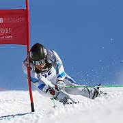 Tomoya Ishii, Japan, in action during the Men's Giant Slalom competition at Coronet Peak, New Zealand during the Winter Games. Queenstown, New Zealand, 22nd August 2011. Photo Tim Clayton