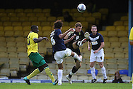 Picture by Paul Chesterton/Focus Images Ltd.  07904 640267.28/7/11 .Bilel Mohsni of Southend United and Declan Rudd of Norwich City during a pre season friendly at Roots Hall Stadium, Southend...