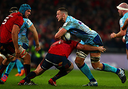 Dave Dennis of Exeter Chiefs is tackled by Dave Kilcoyne of Munster Rugby - Mandatory by-line: Ken Sutton/JMP - 19/01/2019 - RUGBY - Thomond Park - Limerick,  - Munster Rugby v Exeter Chiefs -