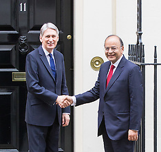 2017-02-28 Indian Finance Minister Arun Jaitley visits British Chancellor Philip Hammond