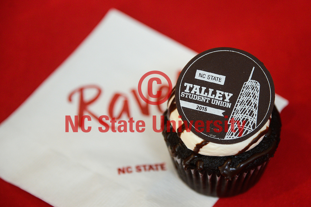 A cupcake adorns a table in Talley. A treat was given to the lucky who attended the dedication.