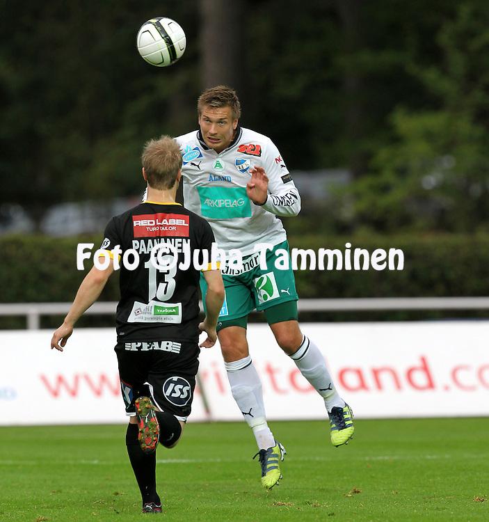 2.9.2012, Wiklof Holding Arena, Mariehamn / Maarianhamina..Veikkausliiga 2012..IFK Mariehamn - Kuopion Palloseura..Kristian Kojola - IFK Mhamn